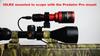 38LRX Predator Light mounted to scope