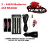 2 18650 batteries and Charger