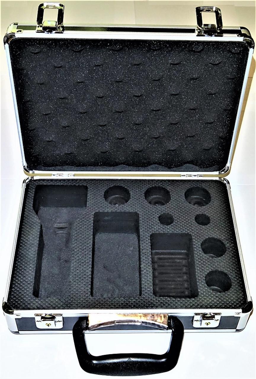 Hard Case with custom cut EVA foam. Flashlight carrying case