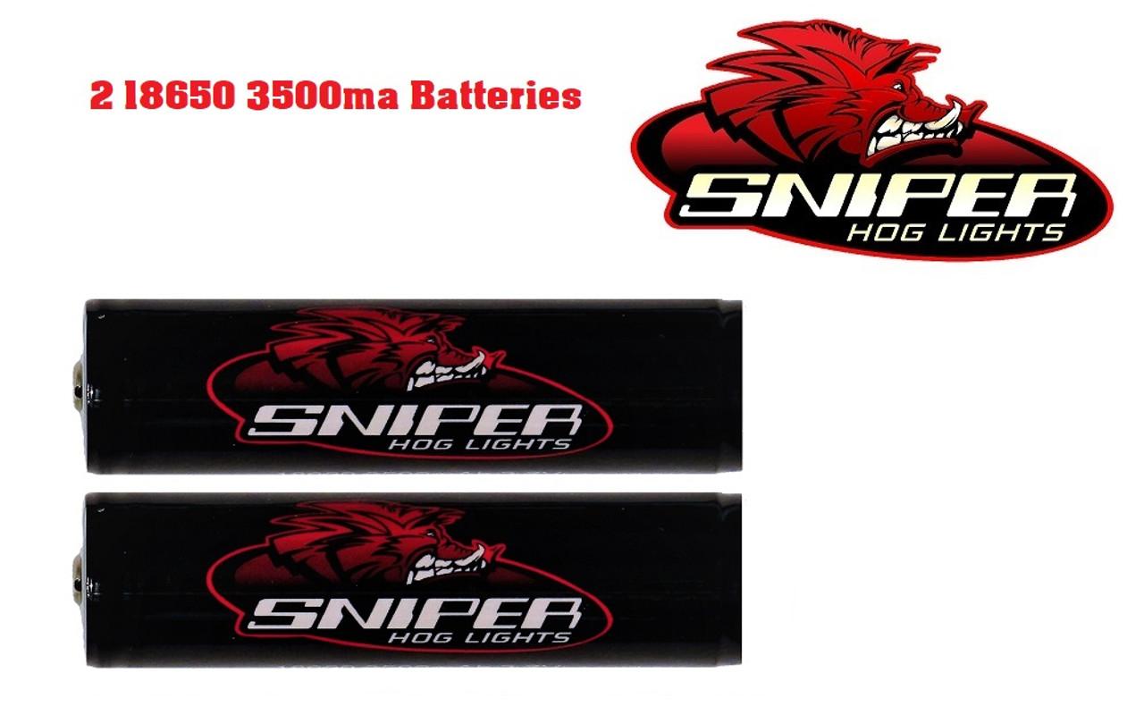 2 - 18650 3500mA batteries