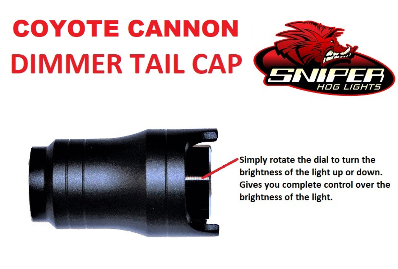 Coyote Cannon Dimmer tail cap