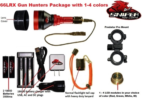66LRX Gun Hunters Package With 1 - 4 colors
