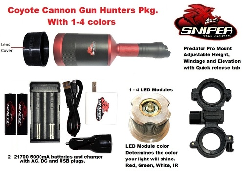 Coyote Cannon Gun Hunters Package With 1 - 4 colors
