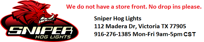 Sniper Hog Lights      Phone 916-276-1385    Contact@sniperHawglights.com