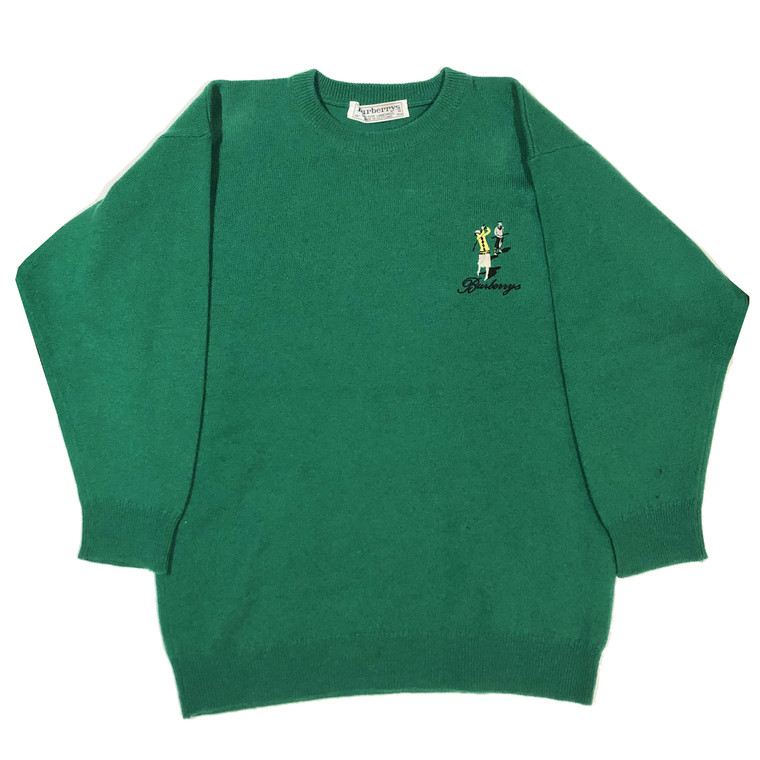Vintage 80s-90s Burberrys Golf Lambswool Sweater