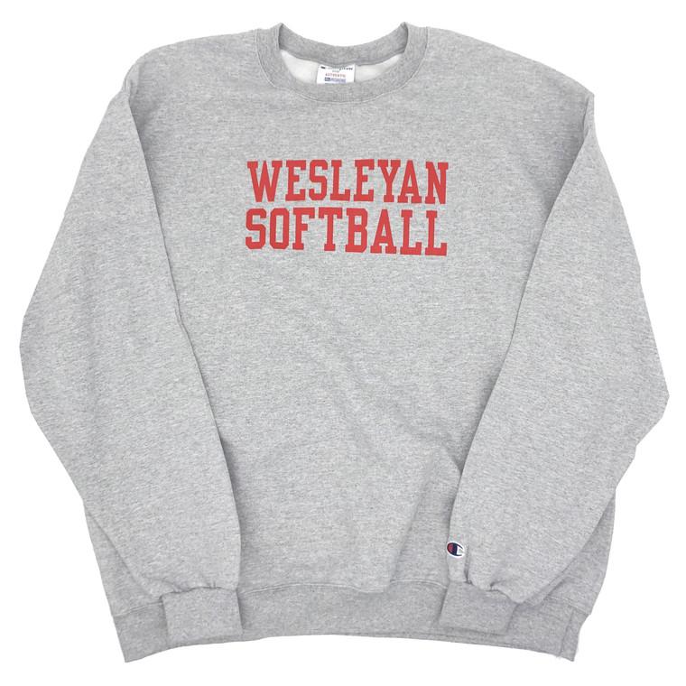 Champion Wesleyan University Softball Crewneck