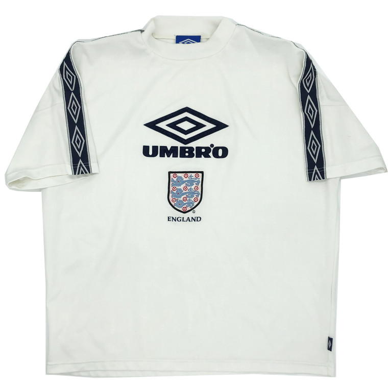 Vintage 90s Umbro England Mock Neck Jersey