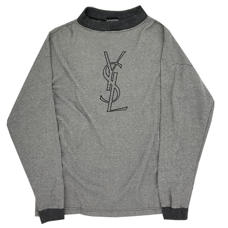 Vintage 90s YSL Mock-Neck  knit shirt