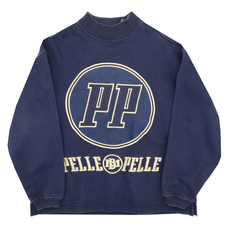 Vintage Pelle-Pelle Mock Neck Pullover Sweatshirt
