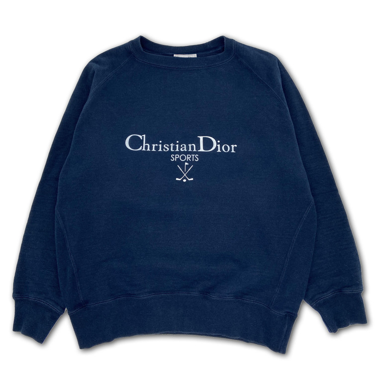 Vintage 90s Christian Dior Sport Heavyweight Spell-Out Jumper