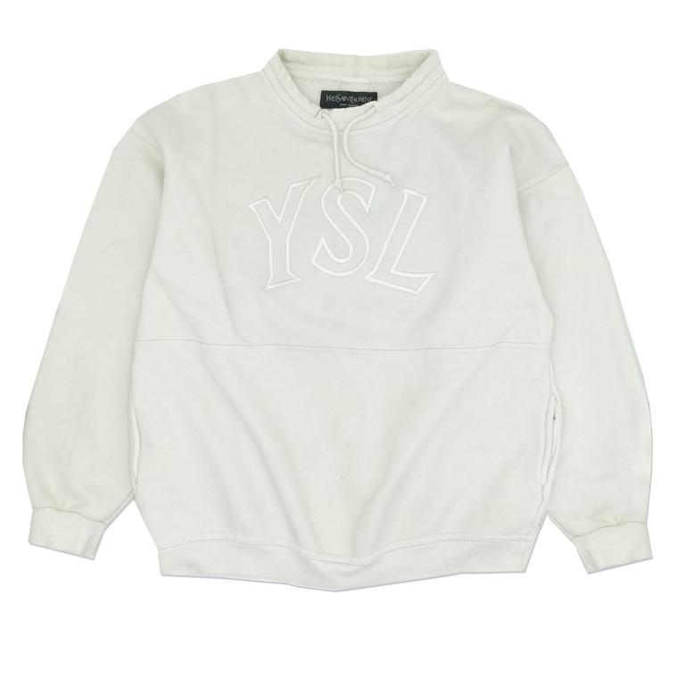Vintage 90s YSL Mock Neck Initial Sweatshirt