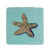 Aqua Starfish Coasters - Set of 4