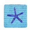 Blue Starfish Coasters - Set of 4