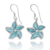 Larimar Starfish French Wire Earrings