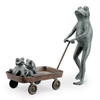 Frog Family with Wagon Planter