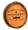Whiskey Label 1 - Quarter Barrel Sign - Personalized