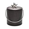 Mocha Wicker Ice Bucket with Chunky Shell Knob - 3 qt