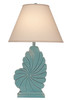 Weathered Tall Nautical Shell Table Lamp - Turquoise