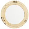"Porthole Mirror Solid Brass - 20"""