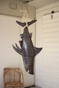 Recycled Metal Shark with Sisal Rope