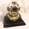 "(BP-704-3A) 3"" Brass Mark V Diving Helmet with Wooden Base"