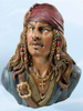 Pirate with Head Scarf Coin Bank