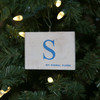 Nautical Signal Flag Ornament - Letter S