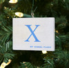Nautical Signal Flag Ornament - Letter X