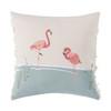Flamingo Pair Fringed Indoor Throw Pillow