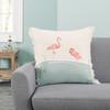 Flamingo Pair Fringed Indoor Throw Pillow - Lifestyle