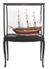 """USS Constitution Model Ship - 32"""" with Floor Display Case - Optional Personalized Plaque"""