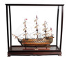 """HMS Victory Model Ship - 27"""" w/ Table Top Display Case - Optional Personalized Plaque"""