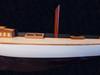 "Painted Shamrock Half-Hull Model Boat - 35.5"""