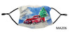 Nautical Face Masks - Holiday Collection - Christmas Tree and Truck Face Mask - MA206