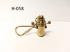 H-058 - Brass Binnacle Key Chain - Free with Purchase of Any Product from our FREE GIFT WITH PURCHASE Promotional Category