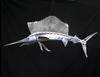 "Sailfish Stainless Steel Wall Decor - 36"""
