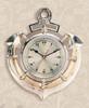 "(110) 13"" Polished Brass Premium Anchor Clock"