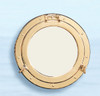 "(BP-701D) Deluxe Polished Brass Porthole Mirror - Available in 8"" and 11.5"""