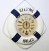 """Life Ring Clock- Blue """"Welcome Aboard"""""""