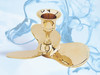 """(BW-617) 4.5"""" Boat Propeller Brass Candle Holder with Lacquer Finish"""