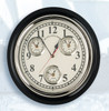 Premium Brass Multiple Time Zone Clock with Nickel Finish in Base