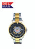 Del Mar Men's 200M Stainless Steel Military Sport Dive Watch - U. S. Coast Guard - Two Tone