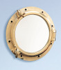 "(BP-702 11.5)  11.5"" Heavy Duty Polished Brass Porthole Mirror"