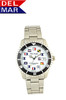 Del Mar Men's 200M Stainless Steel Classic Dive Watch with Nautical Flag Dial