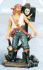 Pirate with Monkey Figurine 25""