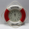 """""""Welcome Aboard"""" Life Ring Clock - Red"""