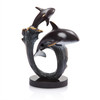 Orca Pair on Wave Sculpture