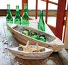 Decorative Wooden Boats - Set of 2