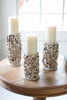 Oyster Shell Pillar Candle Holders - Set of 3