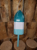 """Wooden Lobster Buoy - 21"""" - Teal , White, Water Lily - Personalized"""